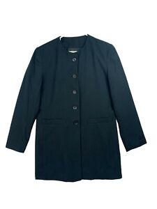 Adolfo Womens Navy Blue Stretch Comfort 2 Piece Skirt Suit Jacket Blazer Size 6