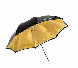 "Kood 47"" / 120cm Gold Reflective Studio Umbrella"