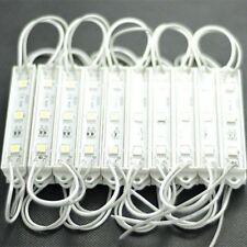 10pcs 3LED Module 5050 SMD Waterproof Lamp String Light DC 12V Cool White p19