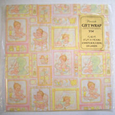 Vintage New Baby gift wrap wrapping paper