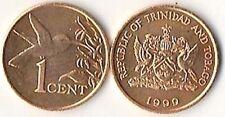 Trinidad and Tobago 1 Cent Hummingbird Animal Coin