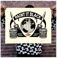 Obey 'Paint It Black' Print LE 450