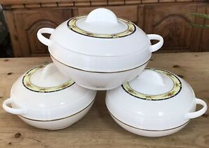 Asian Ambiente Insulated Casserole 3 Star Set 3pc Picnics Partys Steel  Plastic.