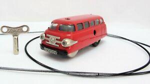 Schuco Varianto 3044 Clockwork Red Bus - Made In West Germany - (3401)