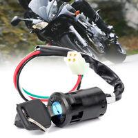 Universal Motorcycle Ignition Switch Key 4 Wire For Honda Suzuki Kawasaki Yamaha