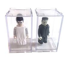 "Medicom Toys Universal Monsters Kubrick Frankenstein & Novia 3"" figuras raras"