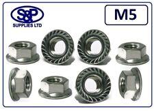 M5 (5mm - 5MM) ST/STEEL FLANGE NUT GR304 A2 STAINLESS STEEL 5MM / 5mm / M5 ST/ST