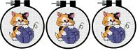 Dimensions Cute Kitty Counted Cross Stitch Learn Craft Kit SET OF THREE!