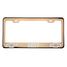Laser Engraved Chevrolet Chevy Rose Gold License Plate Frame 304 Stainless Steel