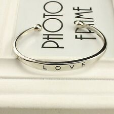 Beautiful Gold Silver Rose Gold LOVE Bracelet Bangle Cuff Metal Alloy Valentines