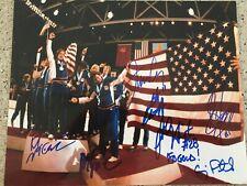 1980 USA OLYMPIC HOCKEY GOLD MEDAL 7 SIGNED AMERICAN FLAG 8X10 ERUZIONE CRAIG