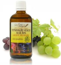 Grape Seed Oil 100ml/3.6oz | 100% Pure Organic Cold Pressed