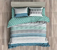 Queen/King/SuperKing Size Bed Duvet/Doona/Quilt Cover Set New Ar M359