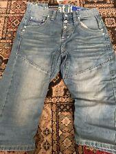 Men's Shorts Gio Goi Hip Twisted Carrot Denim Cotton Size 28 BNWT