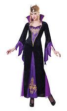 Sorceress Evil Queen Halloween Fancy Dress Costume Size 10-14