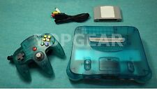 """Official Nintendo 64 Console + Controller """" Clear Blue """"  / TESTED"""