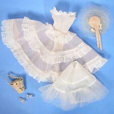 Vintage Barbie Clothes 966 Plantation Bell Hat Dress Slip Purse Heels EXCLNT js