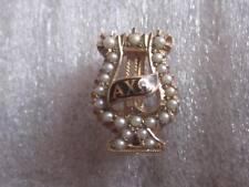 Vintage 1948 10K Solid Gold Alpha Chi Omega Sorority Pin Badge