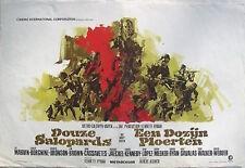 DIRTY DOZEN Belgian movie poster 14x22 LEE MARVIN CHARLES BRONSON RAY Art