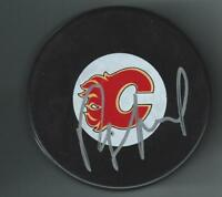 Ray Sheppard Signed Calgary Flames Puck
