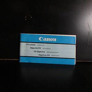 Usado Canon Fd Lentes Objetivo Manual Lentes Guía Catalog O401804