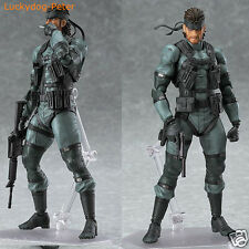Figma 243 Solid Snake Metal Gear Solid 2 PVC Action Figure Collection Toy In Box