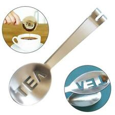 Stainless Steel Tea Bag Tongs Teabag Squeezer Strainer Holder Grip CH