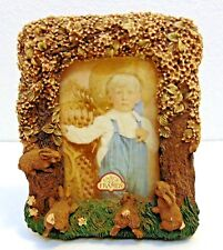 "3D United Design Corps Fancy Frames Bunnies Peeking Photo Frame 3.5""x 5"" Picture"
