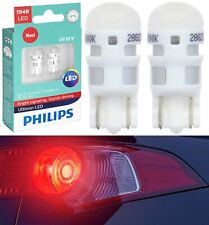 Philips Ultinon LED Light 194 Red Two Bulb License Plate Show Replace OE Look
