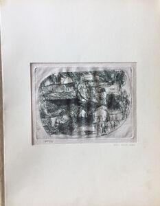 Carlo Della Zorza incisione 1953 Casolari 24x20 firmata numerata