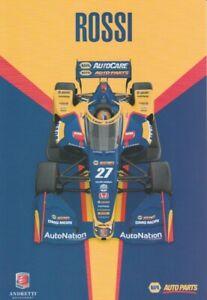 2021 Alexander Rossi Napa Auto Parts Honda Dallara Indy Car Hero Card
