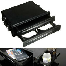 2 IN 1 Car Universal Double Din Radio Pocket Kit Drink Cup Holder + Storage Box