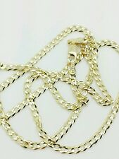 """10k Solid Yellow Gold High Polish Cuban Curb Necklace Pendant Chain 20"""" 2.8mm"""