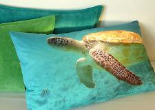 Kissen Kissenhülle Wasser Schildkröte Toto 30x50 maritim blau türkis Proflax