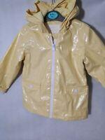 Girls Yellow Sparkly Rain Mac Jacket Coat 18-24 Months
