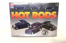 New 1997 AMT ERTL Hot Rods 1:25 Three Model Car Kit '34 Ford '40 Ford '37 Chevy