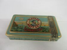 VINTAGE ADVERTISING  PLAYERS NAVY CU FLAT POCKET  TIN COLLECTIBLE EXCELLENT 890-