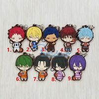 T1464 Anime Kuroko no Basket rubber Keychain Key Ring Straps Schlüsselanhänger