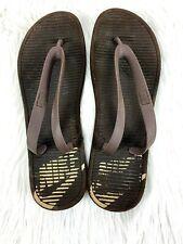Nike Flip Flops size 13 Mens Sandals Brown Swoosh
