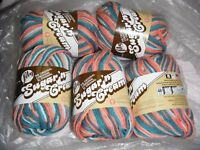 "5 Skeins, Lily, ""Sugar 'N Cream"", Coral Seas, Crochet & Knitting, Cotton Yarn"