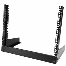 StarTech.com 8U Desktop Rack - 2-Post Open Frame Rack - 19in Open Frame Desktop