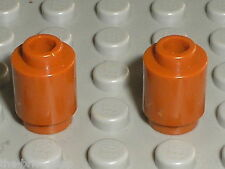 2 x cylindre DkOrange LEGO ref 3062b / Set 4719 4753 41033 75174 75105 71016 ...