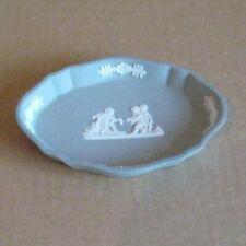 Wedgwood Jasperware Grey Small Oval Dish