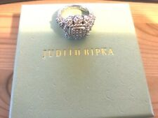 Cluster Cable Ring Size 6 Judith Ripka Sterling Silver Cubic Zirconia