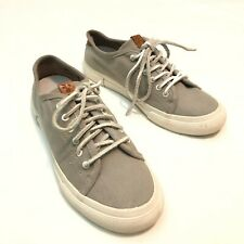 FRYE LUDLOW Gray Canvas/Leather Lace Up Sneakers Women's Size 7.5 3470246-GRY
