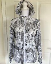 Nike Running Jacket - Womens Geometric Floral Print - Black White Sz Small
