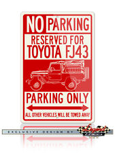 Toyota FJ43 Land Cruiser 4x4 Reserved Parking Only 12x18 Aluminum Sign