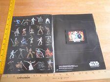 Star Wars 3D Miniatures promo flip book Revenge of the Sith jedi battle 2005
