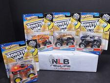 2011 Hot Wheels Monster Jam Lot Prowler, Superman, Shock Therapy, & Monster Mutt