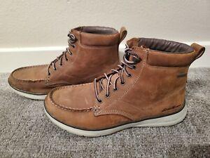 Eddie Bauer Severson Cloudline Boots shoes - Size 10.5, Wheat, Waterproof